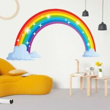 Large Beautiful Rainbow Full  Wall Sticker Decal Kids Boys Girls Poster Newest