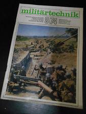 Militärtechnik 8/1974, Zeitschrift der Land-, Luft- und Seestreitkräfte NVA DDR