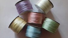 6 Mètres 7 mm 100% Pure Silk Ribbon Assorties Broderie Rose Vert Lilas Bleu etc