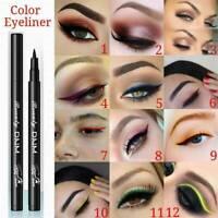 12 Colors Waterproof Eye Liner Pen Makeup Cosmetic Liquid Eyeliner Pencil CN