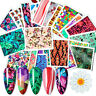 24Sheets Nail Art Water Decals Butterfly Flower Transfer Stickers Decoration DIY