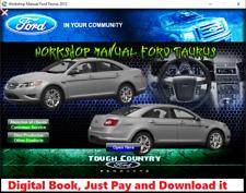 FACTORY REPAIR SERVICE MANUAL FOR FORD TAURUS 2010-2012