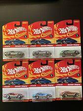 Hot Wheels Classics Series 1 Corvette Stingray. All 6 Color Variants.