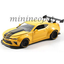JADA 98138 BIGTIME 2016 CHEVY CAMARO WIDE BODY 1/24 with GT WING METALLIC YELLOW