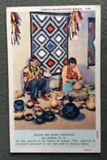 CPSM. 1937. Julian and Marie MARTINEZ. San Ildefonso. Indian Pottery Makers.
