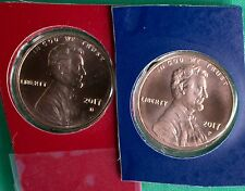 2017 P and D Lincoln Shield 2 Coin US Mint Set 1c Blister Pack Two 1c Cent Penny