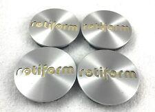 RotiForm Silver Custom Wheel Center Caps # 1003-40MG GOLD EMBLEM (4 CAPS)