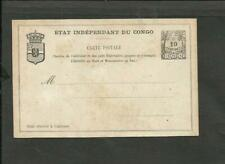BELGISH CONGO, UNUSED POSTAL STATIONERY 1889, VF