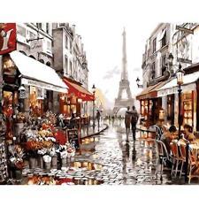 Paris Street Digital Oil Painting Handpainted By Numbers Home Office Diy Decor