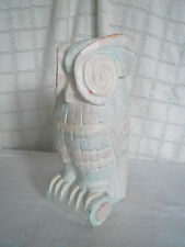 Hand carved, crafted wood owl figure statue Indonesia