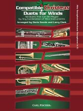 Compatible Navidad Dúos para vientos Alto Saxofón Barítono Play Sax música Libro