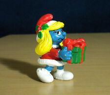 Smurfette Christmas Present Smurf Vintage Figure Smurfs Gift Toy Figurine 20208