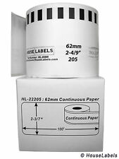 4 Rolls of DK-2205 Brother-Compatible (Continuous) Labels  [BPA FREE]