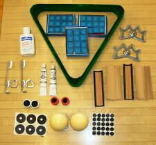 Lot of Pool Billiard Items 3 Dozen  BLUE Chalk Crazy and Regular Cue Ball,+MORE!