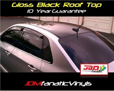 48x65 Gloss Black Roof Overlay w/ AIR RELEASE Tint Vinyl Film WRAP Roll Hood JDM