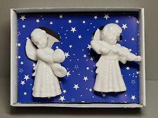 VINTAGE 2 Porcellana Natale Angeli con strumenti musicali Germania Cherubini