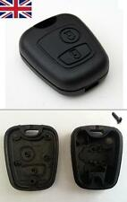 New UK Stock 2 Button Remote Key Fob Case Shell Cover Repair Fits Peugeot 206