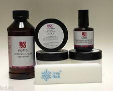 Odorless Nailite Acrylic Powder Liquid Bonder Buffer 6 items Set
