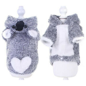 Winter Pet Puppy Dog Kitten Hoodie Fleece Costume Outfit Coat Apparel Clothes Sw