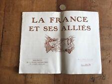 papier ancien militaire numéro 18 livre la france et ses alliés