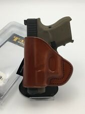 Fits GLOCK 26, 27, 33 | TAGUA PD2-333 Open Quick Draw Paddle Holster Leather LH
