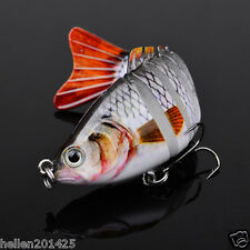 Multi Joint Fishing Lures Bass Trout  Bait Swimbait Sink Hook Tackle 15.5g/10cm
