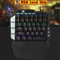 35 Keys Single One Hand Mechanical Gaming Keyboard USB Wired For PUBG LOL Gamer