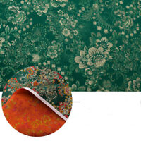 Jacquard Floral Satin Faux Silk Fabric China Brocade Damask Costume Vintage