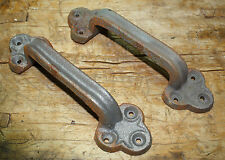 2 Large Cast Iron Antique Style RUSTIC Barn Handle, Gate Pull, Shed Door Handles