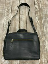 Will Leather Goods NWT Black Continental William Briefcase Retail $1,095