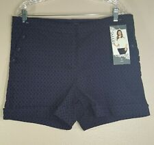 Maurices Women's Plus Size 16 Purple Black Classic Fit Shorts New With Tags