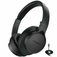 Bluetooth Wireless Foldable Stereo Over Ear Headphones with Mic for TV PC