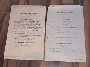 Zeugnisse Stollberg im Erzgebirge 1924 - Niederwürschnitz / Oberwüschnitz 1927