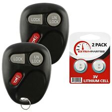 2 For 1999 2000 2001 Chevrolet Silverado Car Remote Keyless Entry Key Fob