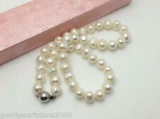 """①baroque 18"""" AAA 10-11 MM SOUTH SEA WHITE PEARL NECKLACE"""