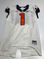 Game Worn Used Illinois Fighting Illini Football Jersey Nike Size 42 #1