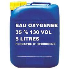 EAU OXYGENEE 35% 130 VOLUME PEROXYDE D' HYDROGENE eau oxygéné 5 LITRES