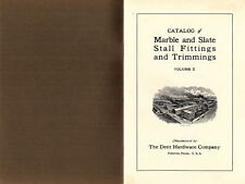 Marble & Slate Stall Fittings & Trimmings Bathrooms Lavoratories Vintage Catalog