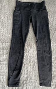 Athleta Heather Gray crop leggings pockets PETITE SP #Y26