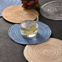 Round Tableware Placemats Insulation Western Anti-Hot Table Woven Mat Dining Pad