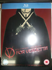 V FOR VENDETTA Limited Edition Steelbook Region Free Blu ray Import New Sealed
