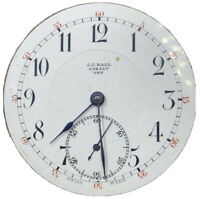JJ Hall Cobalt Pocket Watch Movement 16s 17j Swiss Antique for repair F4092