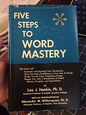 Five Steps To Word Mastery By Leo Henkin 1954 1st Edition Self Help Speech Hcdj