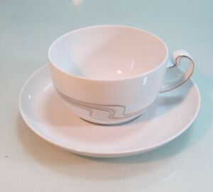 Tea Cup + Lower Rosenthal Asimmetria White Gold More Available