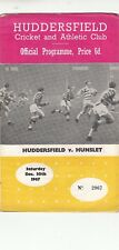 Huddersfield v Hunslet 1967/8 (30 Dec)