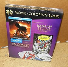 BATMAN BEGINS with DC COMICS COLORING BOOK (Walmart Exclusive Blu-Ray + BOOK)
