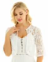 Women Sheer Cardigan Chiffon Lace Shawl Bolero Shrug Open Front Jacket Tops