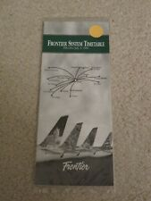 Frontier Airlines Timetable  July 1, 1996 =
