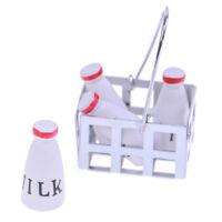 1:12 Dollhouse accessories simulation milk toys for children a basket milk toysI