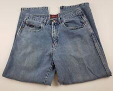 Bugle Boy Womens Jeans Sz 32 X 30 Relaxed Baggy High Waist Light Wash Denim **